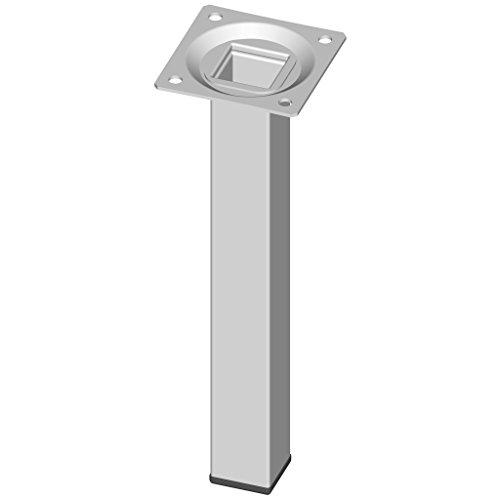 Element System 11101-00015Lot de 4pieds carrés en acier pour table, meubles plaque de vissage incluse, blanc, 18133-00292
