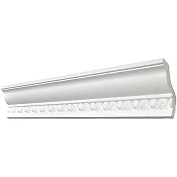 Zierleiste aus Styropor 40 x 45 mm Edle Stuckleiste in Wei/ß DECOSA Zierprofil S50 SOPHIE 80 Leisten /à 2 m L/änge = 120 m F/ür Decke oder Wand