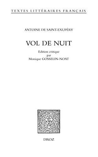 Vol de nuit (Textes Littéraires Français t. 643) (French Edition ...