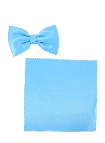Ensemble noeud papillon et pochette enfant Bleu turquoise