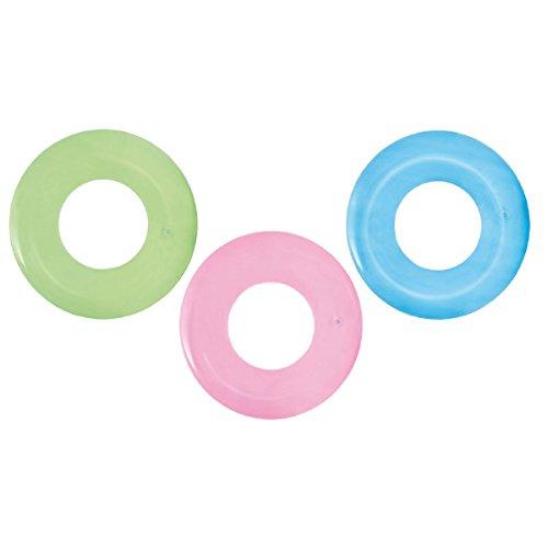 Unbekannt VARILANDO® Schwimmringe im 3er-Set Ø51 cm rosa blau und grün aus strapazierfähigem Vinyl
