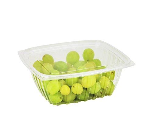dart C64der, 1814,4gram Clearpac transparente boite plastique rectangulaire avec couvercle plat, sortir à salade Deli Fruits Nourriture jetables conteneurs claire - Dart Container Clearpac