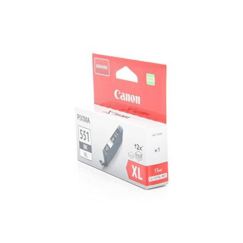 Preisvergleich Produktbild Original Tinte passend für Canon Pixma MG 6600 Series Canon 551BKXL , CLI-551BK , CLI551BKXL 6443B001 - Premium Drucker-Patrone - Schwarz - 11 ml