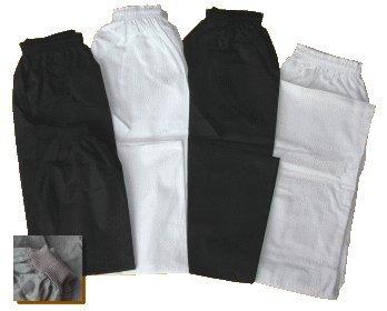 Baumwollhose / Kampfsporthose / Judohose / Karatehose schwarz, 170 cm