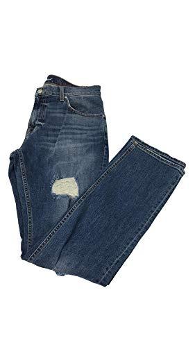 7 For All Mankind Herren Jeans, gerader Schnitt - Blau - 46 -