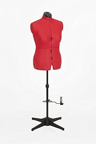 Adjustoform Rouge Sew Simple factice UK16-22 de couturière réglable 8-partie