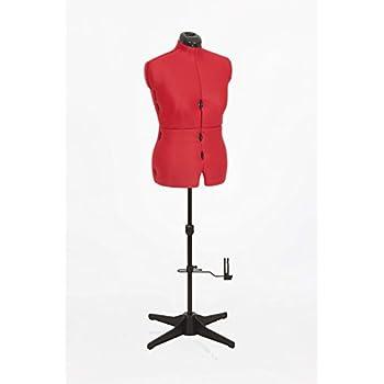 Sew Simple '8Parure de mannequin réglable | Taille Moyen, Couleur Rouge