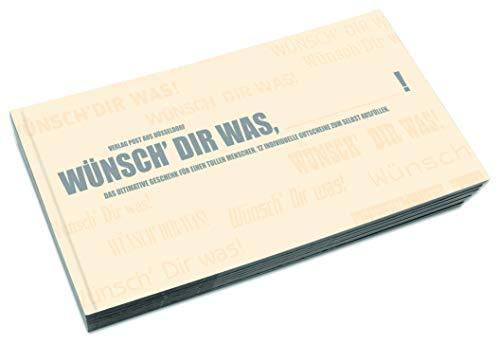 Gutscheinbuch zum Selbst Gestalten | WÜNSCH DIR WAS, BLANKO! - 12 perforierte Postkarten zum Raustrennen