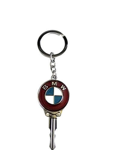 BMW Key Shape Red Metal Key Chain  available at amazon for Rs.165