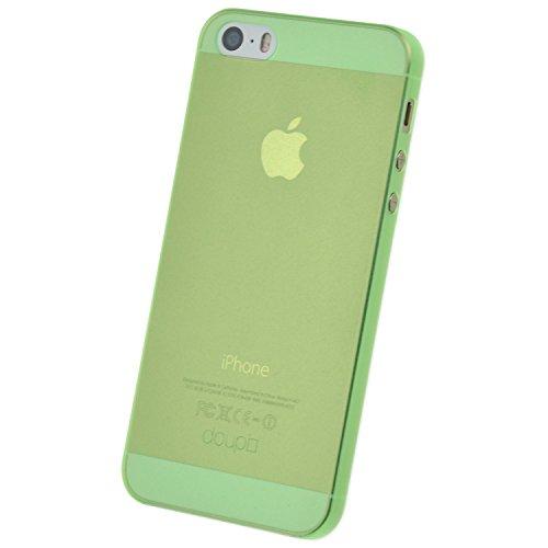 doupi UltraSlim Hülle für iPhone 5 5S SE, Ultra Dünn Fein Matt Handyhülle Cover Bumper Schutz Schale Hard Case Taschenschutz Design Schutzhülle, grün