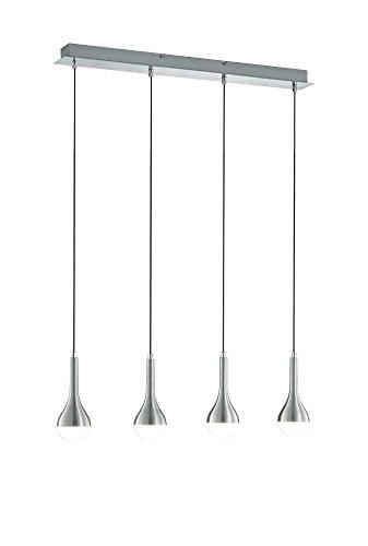 Trio Leuchten LED-Pendelleuchte DROPS in Aluiminium gebürstet, acryl/weiß, 327910405