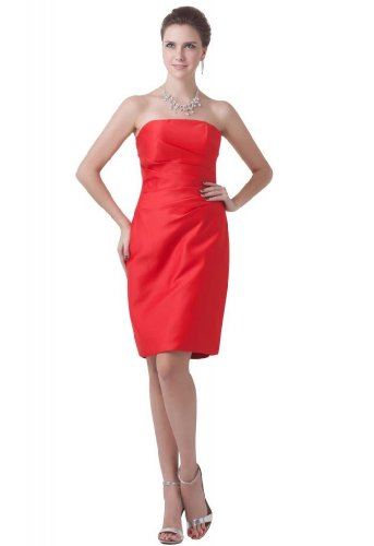 Lemandy - Robe - Sans Manche - Femme rouge Red 40 red