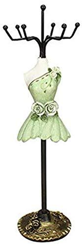 Organizador de Joyas con diseño de pingüino de Peppa para Colgar Pendientes, Collares, maniquíes, Vestidos, Damas (Verde)