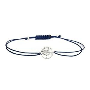 Armband Damen Lebensbaum 925 Silber Dunkelblau
