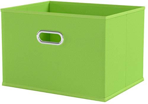 Zeller 14414 Aufbewahrungsbox, Vlies, grün, ca. 33 x 26 x 22 cm
