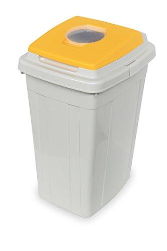 Contenedor de reciclaje Eco-lid 95L - 51 x 42 x 78 cm Tapa Amarilla