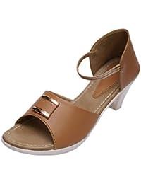 VIREN Women's Faux Leather Stylish, Party Wear Heels (4-9 UK)