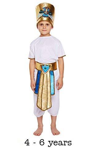 Disfraz de niño egipcio para niño talla pequeña Edad 4 - 6 años