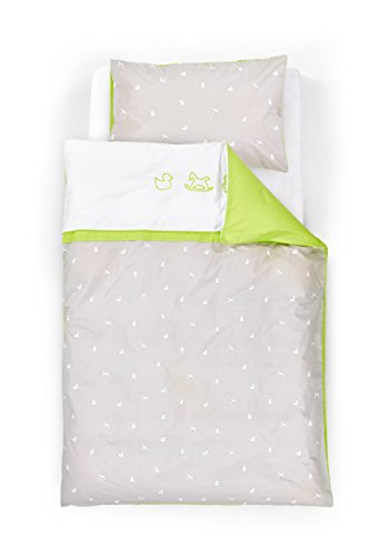 Träumeland Bettwäsche Schaukelpferd, bestehend aus Decke 80 x 80 cm und Kopfkissen 35 x 40 cm, grün - Bettdecken Grüne