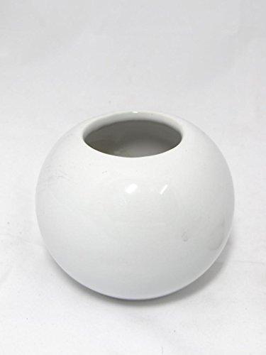 Fourwalls Circular Ceramic Vase (White, 7245/1125)