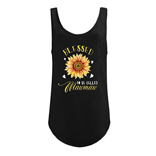 LEXUPE Frauen Plus Size Print Shirt Kurzarm T-Shirt Bluse Tops