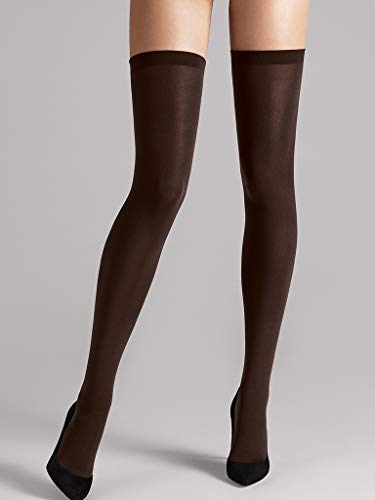 Wolford Damen Fatal 80 seamless Stay-Up 80 DENIER mocca L -