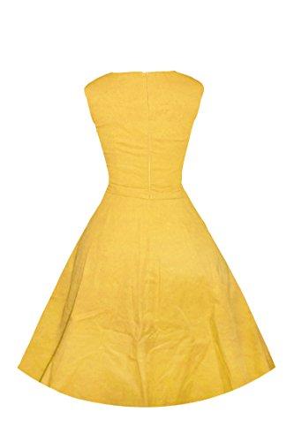 Luouse ANNÉES 50 60's Vintage Audrey Hepburn Swing Rockabilly Boule Peignoir Robe Jaune