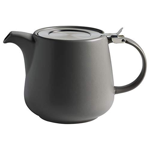 Maxwell & Williams AY0297 Tint Teekanne aus Porzellan, Dunkelgrau, 1200 ml