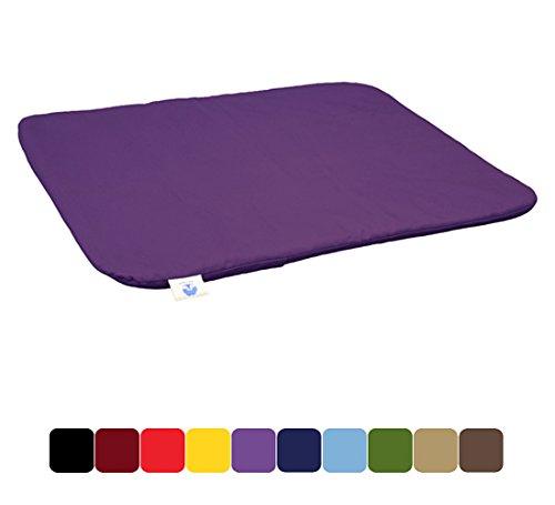 Tapis de méditation, Zabuton - Coussin plat Violet