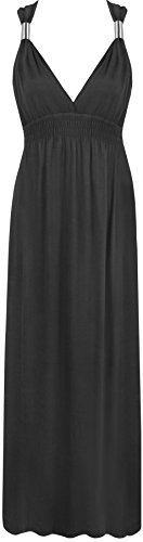 Ladies Maxi Stretch Long Womens Dress Sizes 8-16