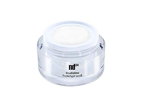 5ml - nd24 STUDIOLINE - FRENCH-GEL SOFT white weiß milchig - UV Nagel-Gel - MADE IN GERMANY