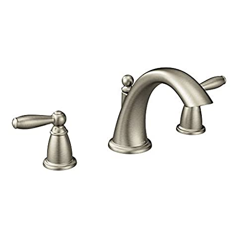 Moen T4943BN Brantford Two-Handle Low Arc Roman Tub Faucet without Valve, Brushed Nickel by Moen