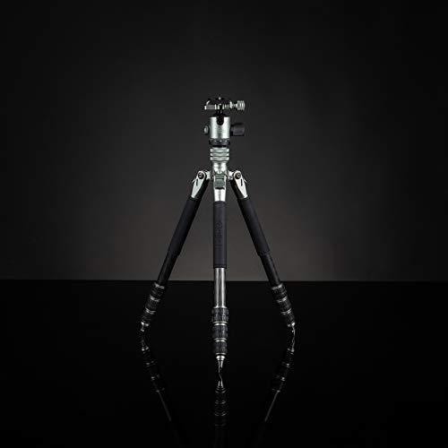 Rollei Lion Rock Traveler S, sehr hochwertiges Carbon Reise-Stativ mit 10 KG Tragkraft inkl. Stativkopf und Spikes. Ideal für Reise und Naturfotografie mit Ihrer Spiegelreflex oder System-Kamera.