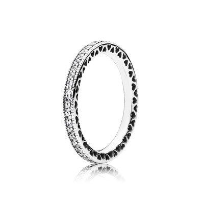 Pandora - anillo infinito Corazón, 190963CZ