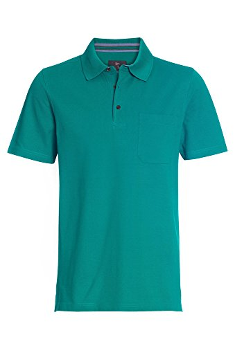 PAUL R.SMITH Basic Poloshirt, Herren T-Shirt,Shirt,Polo-Shirt,Kurzarm-Shirt,1/4-Arm Türkis