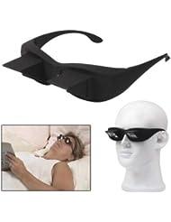 17852cd274 Xiaochou@sl Plástico Horizontal de Alta definición Creativo + Cristal  Tumbado Gafas Claro