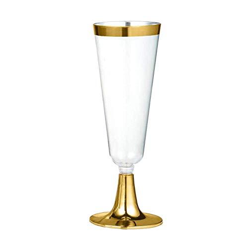(StageOnline 6er Pack Plastik Weingläser 160 ML – Einweg Kunststoff Rotwein Glas Champagner Flöte Cocktail Glas ideal für Weihnachtsfeiern, Catering oder Veranstaltungen)