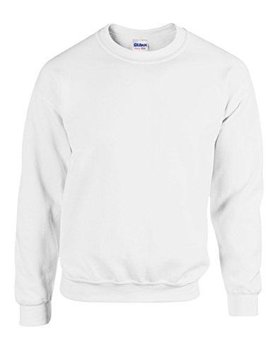 Gildan Heavy Blend Sweatshirt mit Rundhalsausschnitt (2XL, Weiß)
