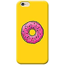 Coque Housse TPU pour Tous Les modèles Apple iphone x 8 7 6 6 5 5s Plus 4 4s 5c Se - AE15 Ciambella Simpson glassa Rosa e canditi sfondo Giallo, L'IPHONE 6