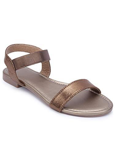 Stepee Sandals for Women Flat Casual Comfortable Footwear - Black_36