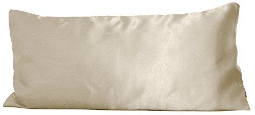 beties Glanz Satin Kissenbezug 40x80 cm anschmiegsam & edel 100% Polyester in 4 Größen Farbe (Champagner) (Kissenbezug Echtes Satin)
