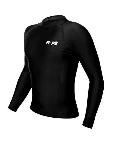PI-PE Rash Guard Herren L/S Long Sleeve Black L