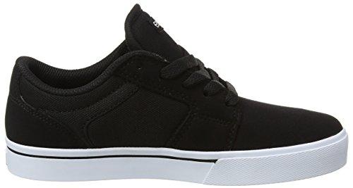 Etnies Unisex-Kinder Kids Barge Ls Skateboardschuhe Schwarz (Black/White)
