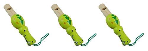3 Magic-Elefant Holz Tiere Flöten Pfeifen & Töne - Montessori Material – zum Musik lernen der Kinder ab 3 Jahre (Krokodil)