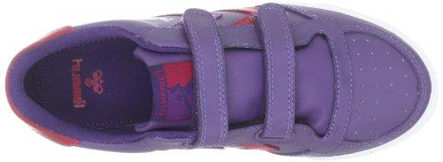 hummel STADIL LOW JR 63-401-0549 Unisex - Kinder Sneaker Rot (LNBERRY/BARBERRY/CRUSHED GRAPE 0549)