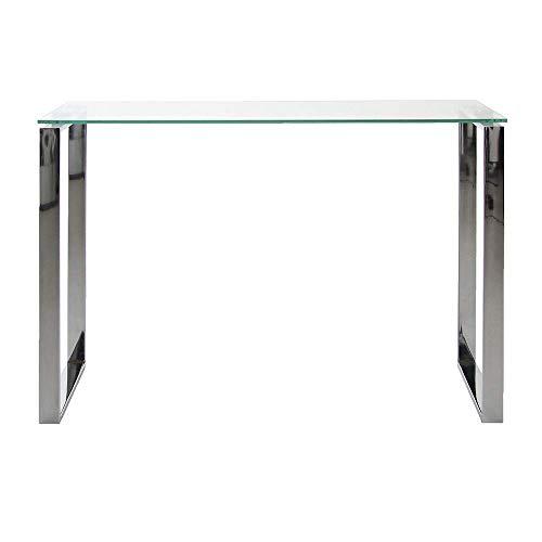Amazon brand - movian somes - consolle, 46 x 152 x 76 cm (lu x la x a), vetro temperato
