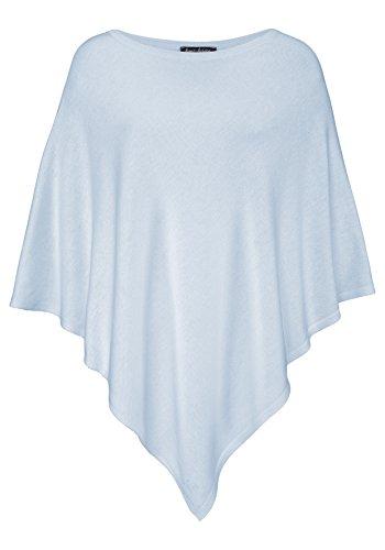 Cashmere Dreams Poncho-Schal aus Baumwolle - Hochwertiges Cape für Damen - XXL Umhängetuch und Tunika - Strick-Pullover - Sweatshirt - Stola für Sommer und Winter Zwillingsherz - hbl