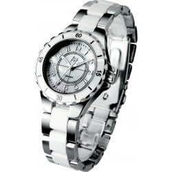 Arbutus AL601–Montre bracelet pour femme, bracelet en acier couleur blanc