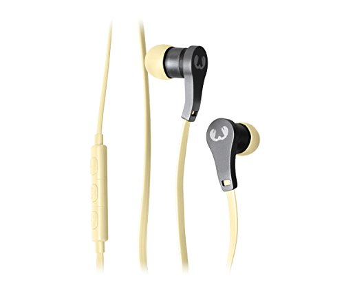 Fresh 'N Rebel Lace Earbuds Buttercup - Auricular alámbrico intraural, color amarillo pastel