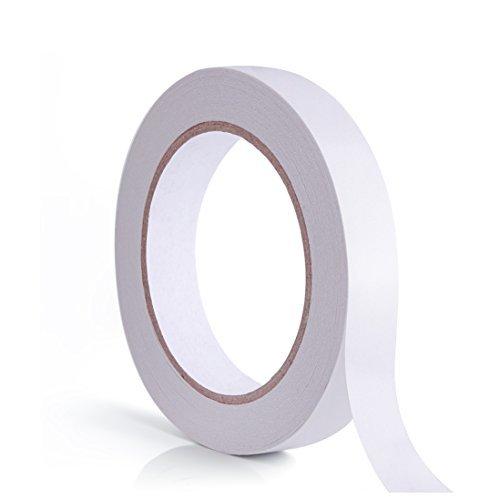 WXJ13 doble cara cinta adhesiva para papel pintado, manualidades, fotos, 1 rollo, 3/4 pulgadas por 30 yardas